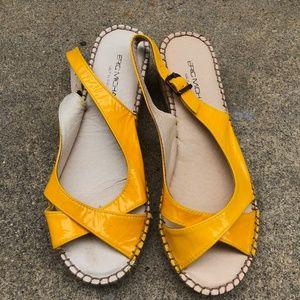 eric michael helen yellow espadrille sandals 37